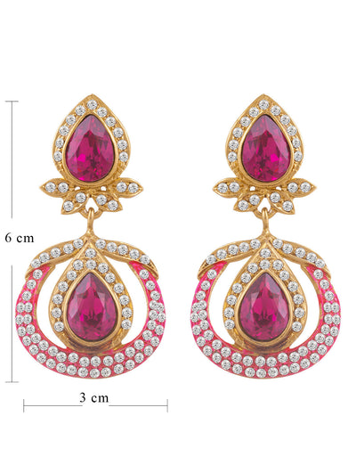 Sukkhi Astonish Gold Plated AD Earring For Women-1