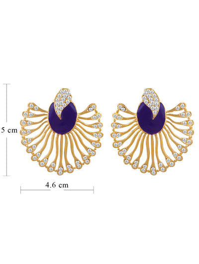 Sukkhi Marquise Gold Plated AD Earring For Women-1