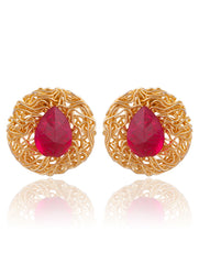 Sukkhi Pretty Gold Plated AD Stud Earring For Women