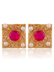 Sukkhi Glistening Gold Plated Stud Earring For Women