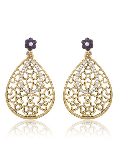 Sukkhi Youthful Gold Plated AD Earring For Women