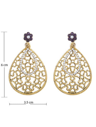 Sukkhi Youthful Gold Plated AD Earring For Women-1