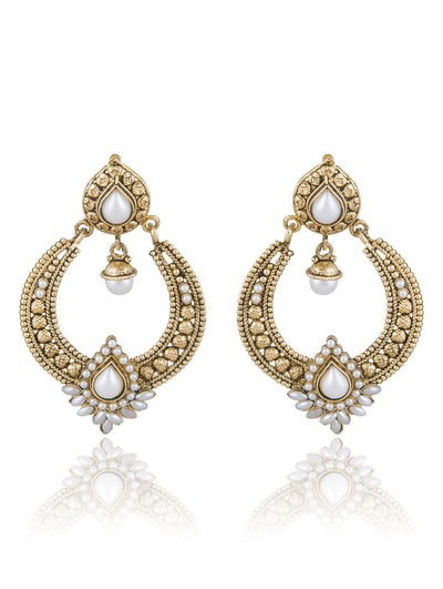 Sukkhi Delightly Gold Plated Chandbali Earring For Women