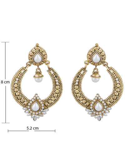 Sukkhi Delightly Gold Plated Chandbali Earring For Women-1