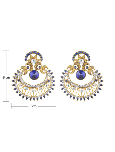 Sukkhi Pleasing Gold Plated AD Chandbali Earring For Women-1