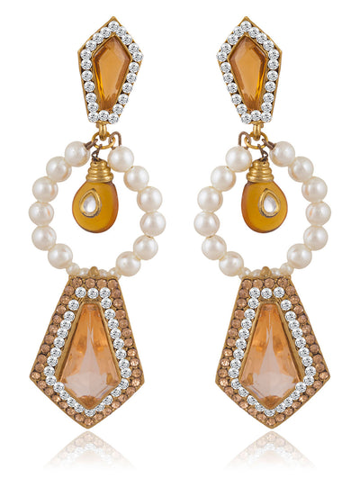 Sukkhi Lavish Gold Plated AD Earring For Women