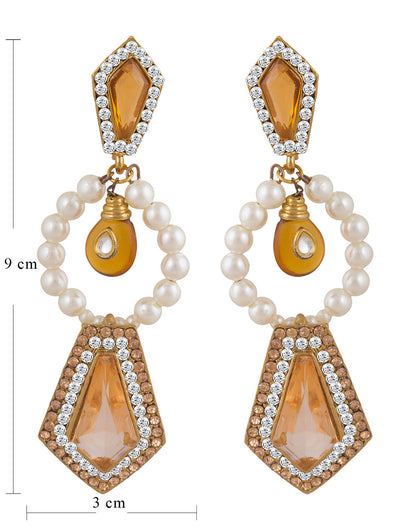 Sukkhi Lavish Gold Plated AD Earring For Women-1