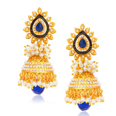 Sukkhi Intricately Gold Plated Jhumki Earring For Women