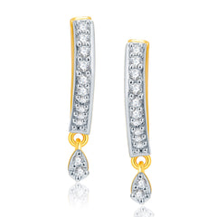 Pissara Stunnung Gold And Rhodium Plated CZ Earrings For Women