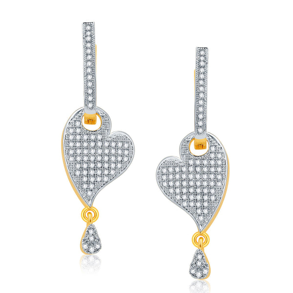 Pissara Mystical Gold And Rhodium Plated CZ Earrings For Women