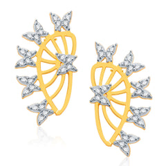 Pissara Jubilant Gold And Rhodium Plated CZ Earcuff For Women