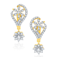 Pissara Stunning Gold And Rhodium Plated CZ Earrings For Women