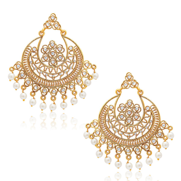 Sukkhi Angelic Mehandi Plated AD Earring For Women