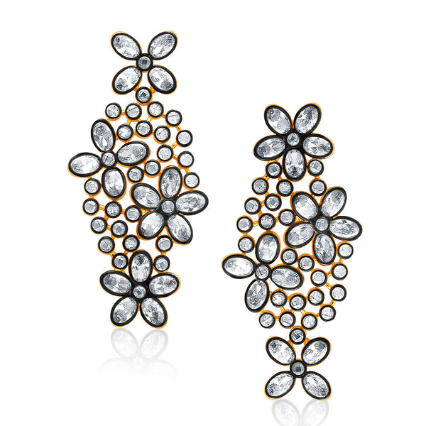 Sukkhi Sparkling Gold Plated AD Earring For Women