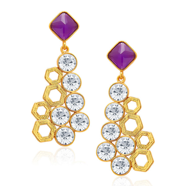 Sukkhi Charming Mehandi Plated AD Earring For Women