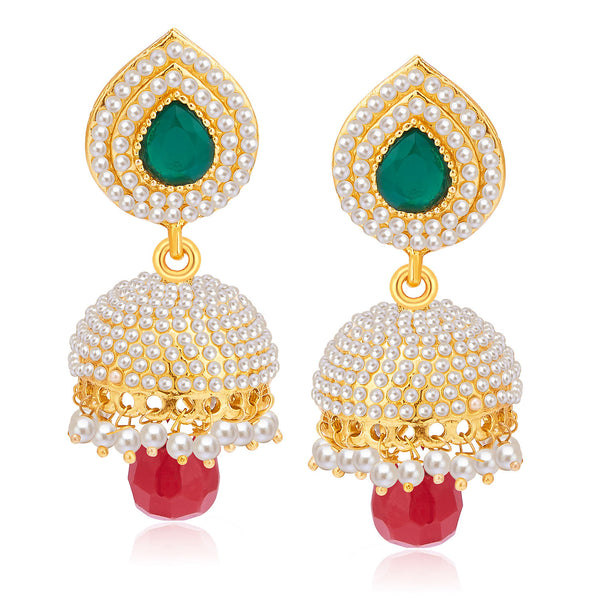 Sukkhi Amazing Gold Plated Pearl Jhumki For Women