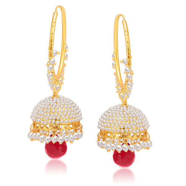 Sukkhi Sparkling Gold Plated Pearl Jhumki For Women