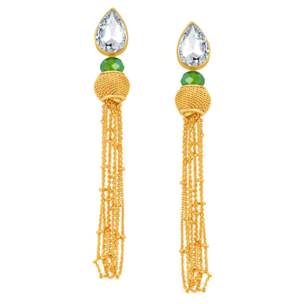 Sukkhi Delightful Solitaire Gold Plated American Diamond Earring For Women