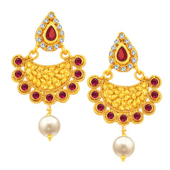 Sukkhi Amazing Chandbali Gold Plated Earring For Women