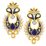 Sukkhi Cluster Chandbali Gold Plated AD Earring For Women