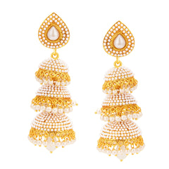 Sukkhi Pleasing Jhumki Gold Plated Earring For Women