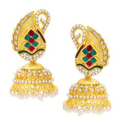 Sukkhi Angelic Jhumki Gold Plated Earring For Women
