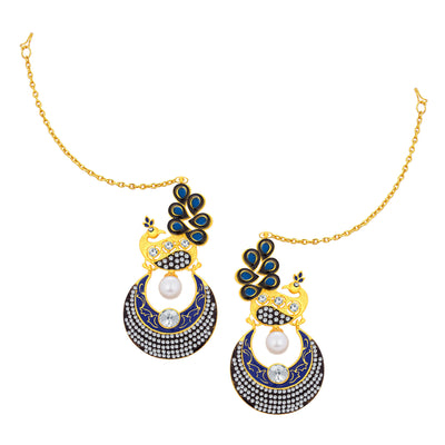 Sukkhi Trendy Peacock Chandbali Gold Plated Earring For Women-1