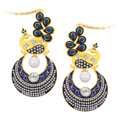 Sukkhi Trendy Peacock Chandbali Gold Plated Earring For Women