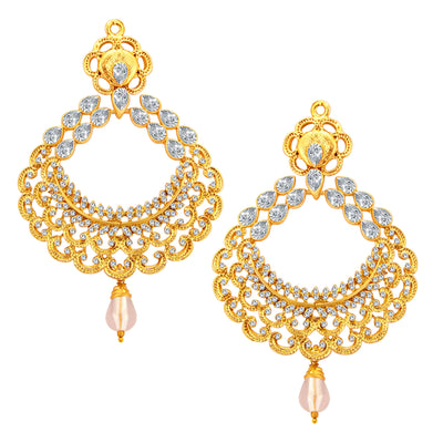 Sukkhi Ritzy Gold Plated American Diamond Earring For Women