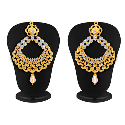 Sukkhi Ritzy Gold Plated American Diamond Earring For Women-1