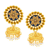 Sukkhi Royal Jhumki Gold Plated AD Earring For Women