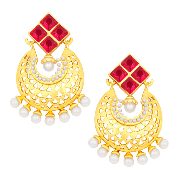 Sukkhi Enchanting Chandbali Gold Plated Earring For Women