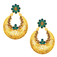 Sukkhi Splendid Chandbali Gold Plated AD Earring For Women
