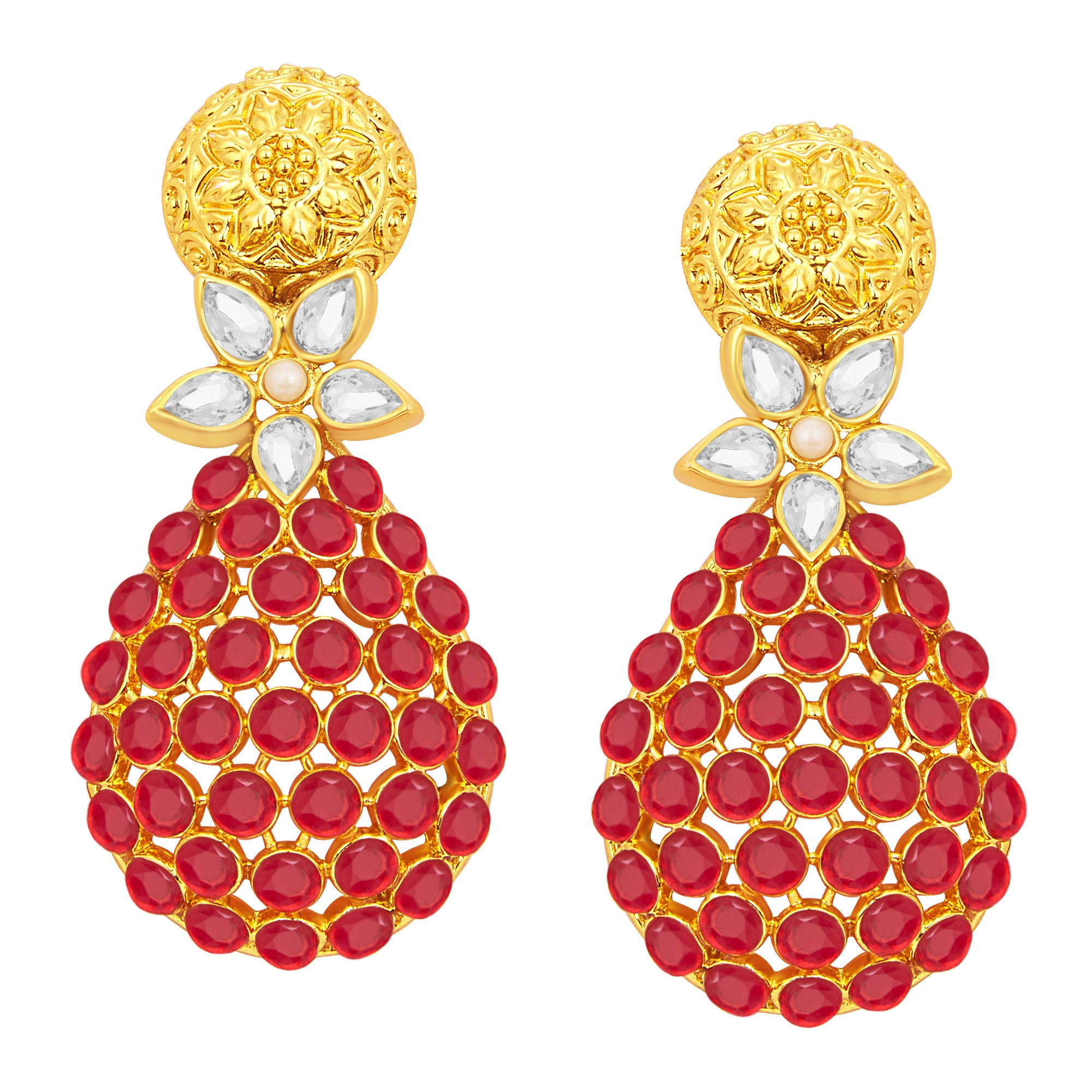 09883c38f Sukkhi Attractive Gold Plated American Diamond Earring For Women ...