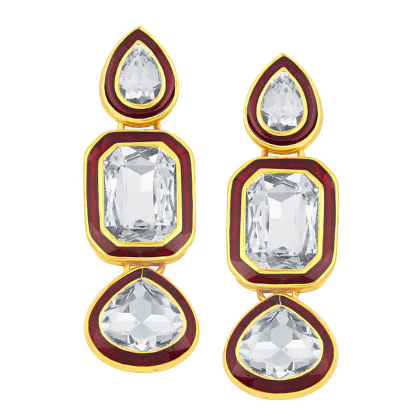 Sukkhi Modish Gold Plated American Diamond Earring For Women