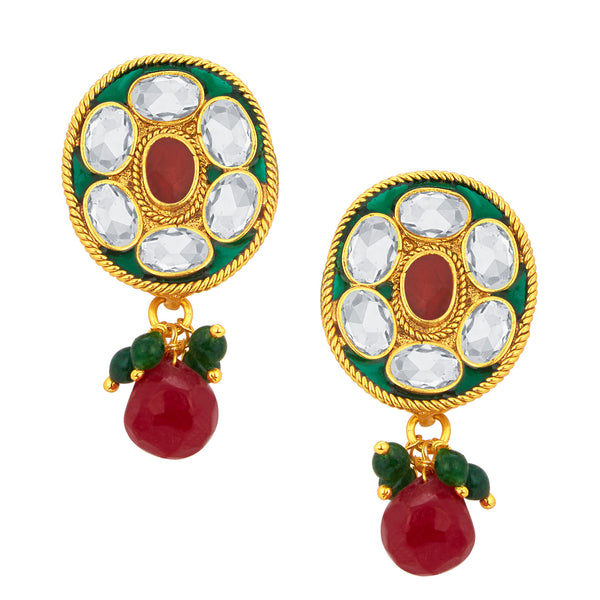 Sukkhi Exquisite Gold Plated American Diamond Earring For Women