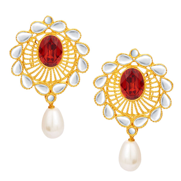 Sukkhi Gorgeous Gold Plated Kundan Earring For Women