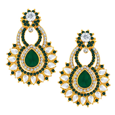 Sukkhi Exquisite Gold Plated AD Earring For Women-1