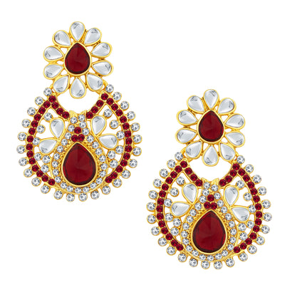 Sukkhi Finely Gold Plated AD Earring For Women-1
