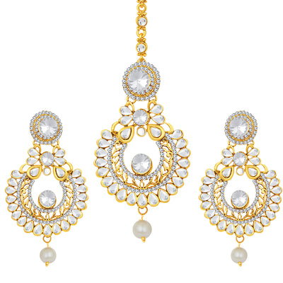 Sukkhi Designer Gold Plated AD Earring For Women