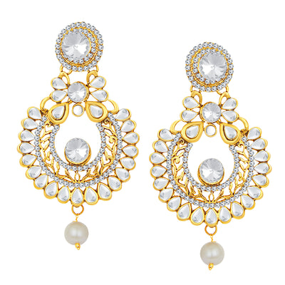 Sukkhi Designer Gold Plated AD Earring For Women-1