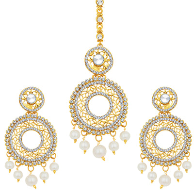 Sukkhi Gleaming Gold Plated AD Earring For Women
