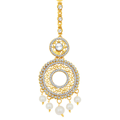 Sukkhi Gleaming Gold Plated AD Earring For Women-1