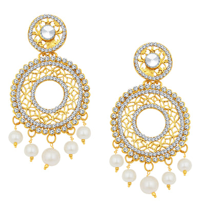 Sukkhi Gleaming Gold Plated AD Earring For Women-2
