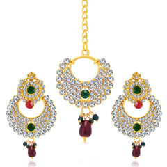 Sukkhi Splendid Gold Plated AD Earring For Women