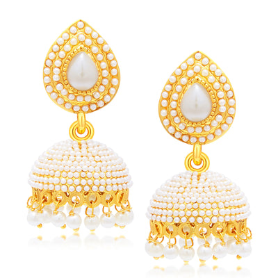 Sukkhi Astonishing Jhumki Gold Plated Set of 2 Pair Earring Combo For Women-1
