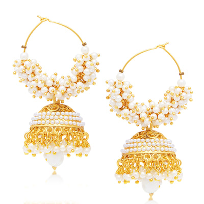 Sukkhi Divine Jhumki Gold Plated Set of 2 Pair Earring Combo For Women-1