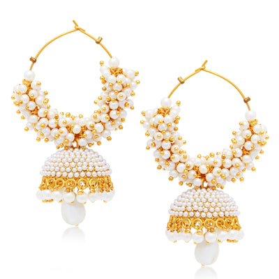 Sukkhi Astonishing Jhumki Gold Plated Set of 2 Pair Earring Combo For Women-2