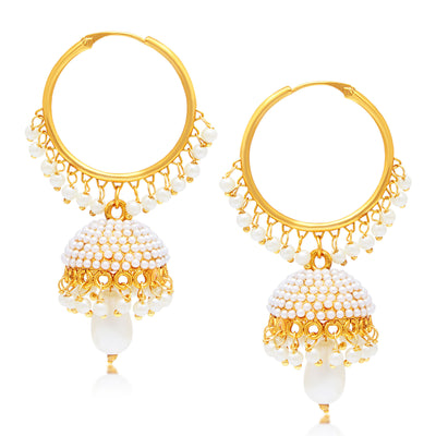 Sukkhi Divine Jhumki Gold Plated Set of 2 Pair Earring Combo For Women-2