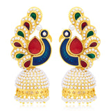 Sukkhi Pleasing Peacock Gold Plated Earring For Women
